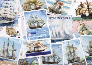 Почтовая открытка Марки. Парусники