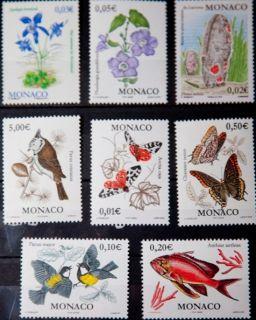 Почтовая открытка Monaco - Набор марок