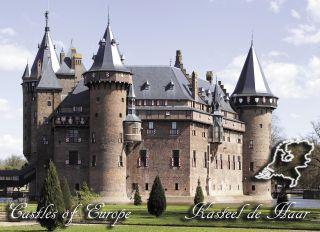 Почтовая открытка Замки Европы - Замок де Хаар