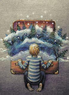 Почтовая открытка Чемоданный лес