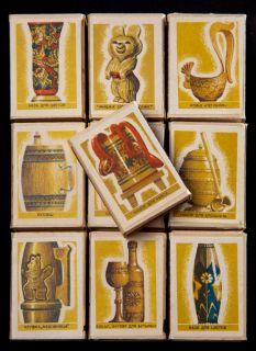 Почтовая открытка Набор спичечных коробков