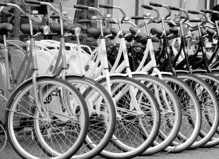 Почтовая открытка Велосипеды