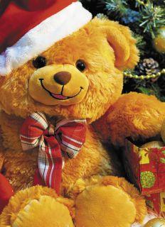 Почтовая открытка Медвежонок и Новый год