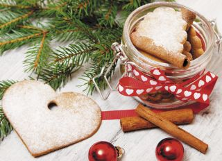 Почтовая открытка Сладости к новогоднему столу