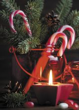 Почтовая открытка Рождественское пламя свечи
